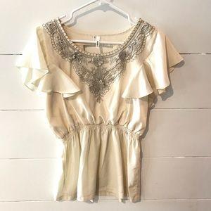 BOGO🎉 Studio Y Women's Blouse Chiffon Dressy Top